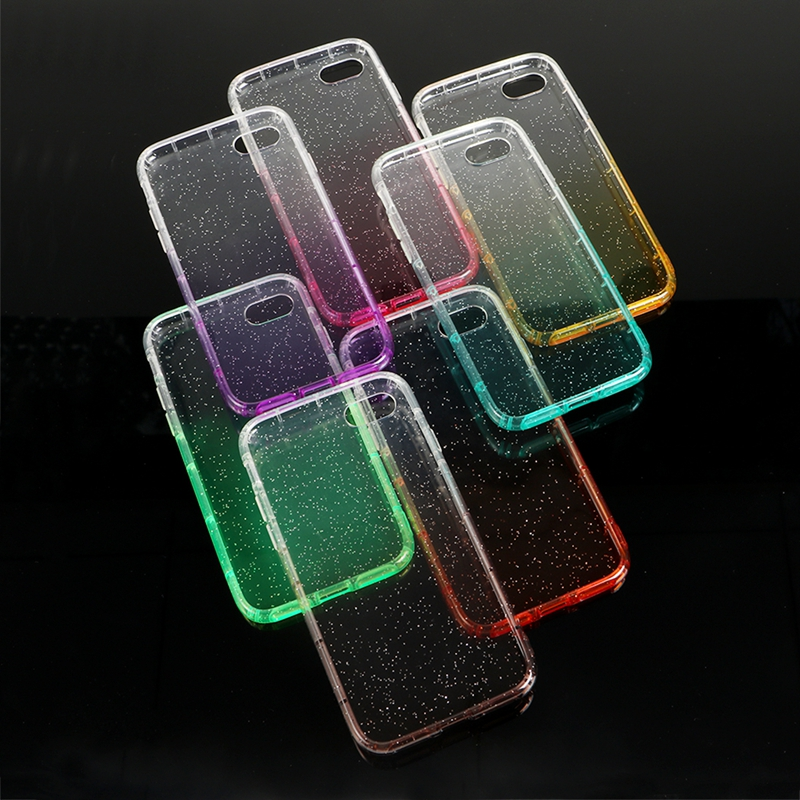 Bling Crystal Glitter Crystal Transparent TPU <strong>Cell</strong> <strong>Phone</strong> Case Cover for HTC X10/ U11 /M10/ D10 Pro