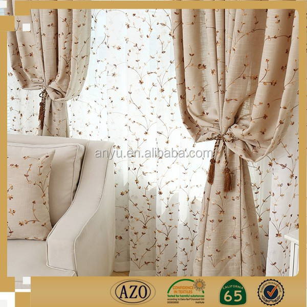 100% polyester fancy curtain printed curtain/home textile