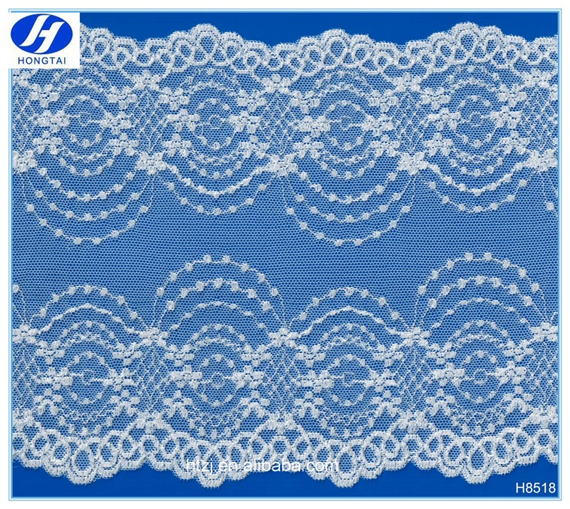 Hongtai new design beautiful french chantilly lace fabric