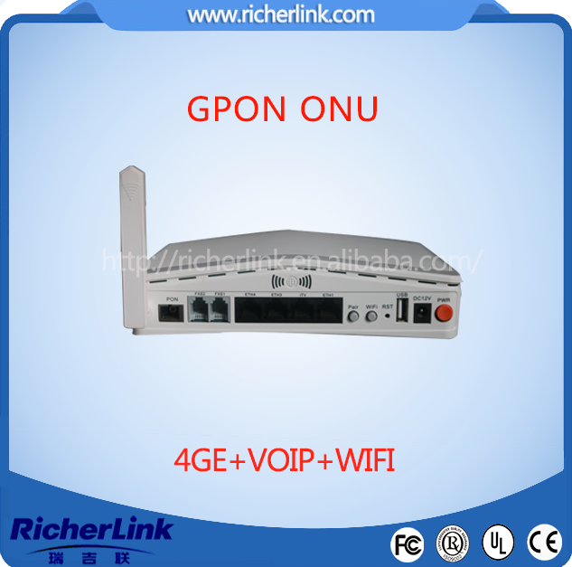 fiber optic wireless router 1ge onu gpon cpe, FTTH Gpon/Gepon ONT/ONU English Firmware