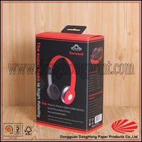 Cardboard drawer gift headphone box with hanger