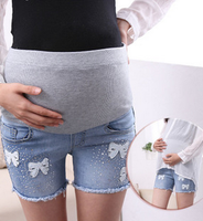Z73024A 2014 wholesale Korean Style Hot Sale Floral Maternity Shorts