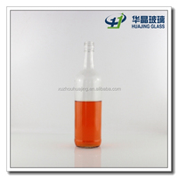 clear empty 750ml glass liquor bottles wholesale with screw top lid