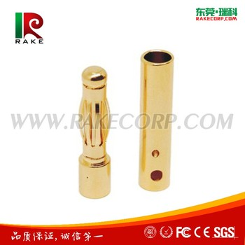Gold Plated Brass 4mm Banana plug connector