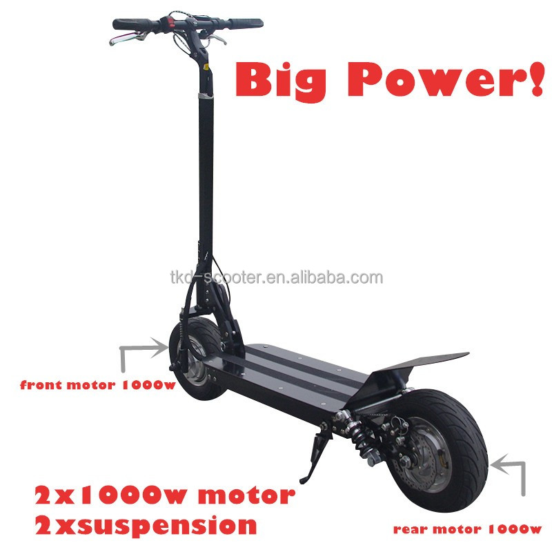 2017 new design with dual motors aluminum frame 52v 2000w electric scooter