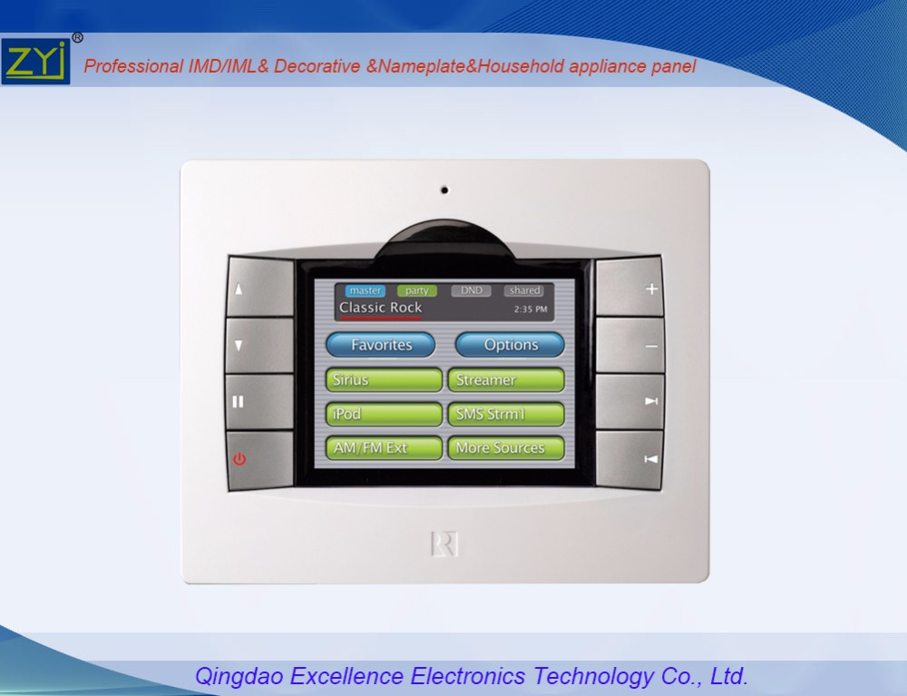 IMD in mold decoration switch control panel for auto