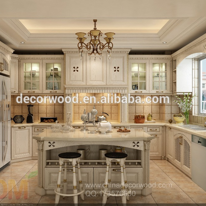 3D interior design and kitchen cabinet in luxury architectural home designing