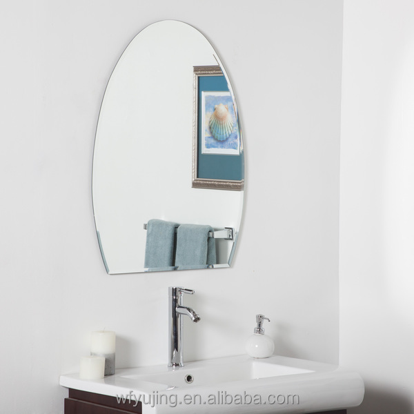 Decorative Custom Bathroom Mirror With Various Shapes And