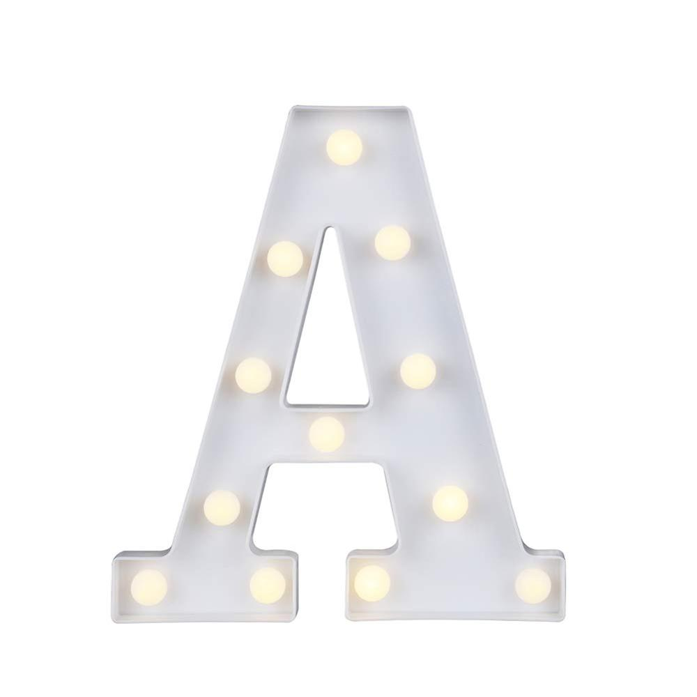LED Marquee Letter Lights Alphabet Light Up Sign Party Wedding Bar Decoration Battery Powered Christmas Night Light Lamp