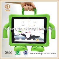 New kids foam tablet hard covers 7 inch custom case for ipad with carrying handle