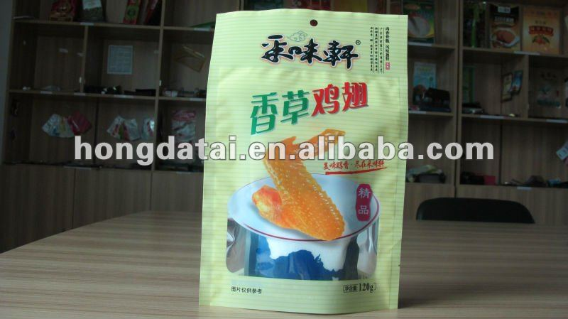 plastic vacuum packaging bag for chicken wing snack