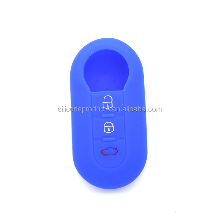 Wholesale cheap fancy car key covers made of 100% silicone for Fiat