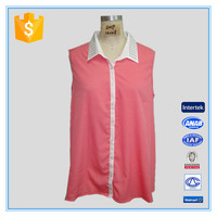 2016 Ladies Chiffon Coral Beaded Tank Top
