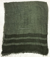 Fashion new designer Canada luxury premium jacquard full sequin stripe wool scarf with cotton blended