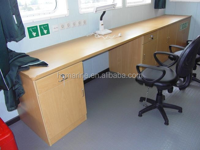 Wood marine office desk table for offshore cabin view for Table 6 usmc