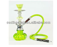 green clear glass hookah