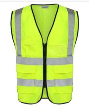 Traffic Clothing <strong>Safety</strong> With Reflective Pockets Hi Vis Vest