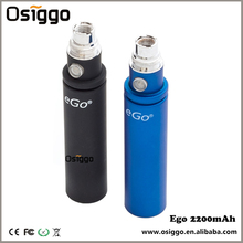 Wholesale Kgo battery ego mega 2200mAh electronic cigarette ego 2200mah battery with various color