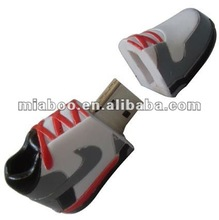 2012 new !!! popular shoes shape cartoon usb stick, cute pen drive for promotional 100% Full capacity -Free Sample