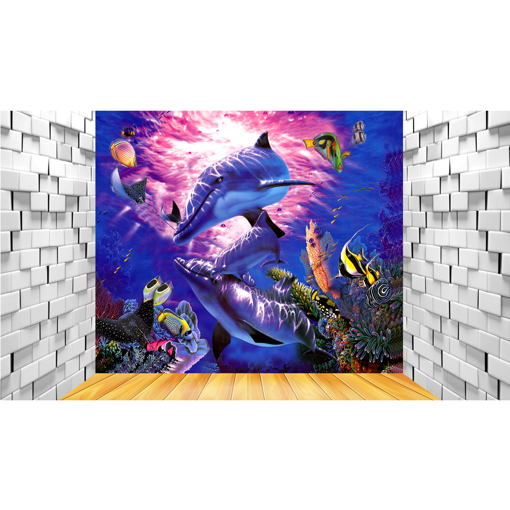cute 3d dolphin design wallpaper 3d wallpaper for bathroom wateroof wallpaper 3d for home decoration