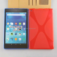 X Line Soft TPU Silicone Cover Case for Amazon Kindle Fire HD 8 2015