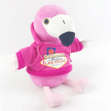 Adorable Custom Animal Plush Toy Pink Plush Flamingo Toy