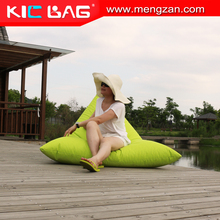 Triangle shape popular style beanbag chair sun lounge cushion