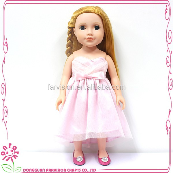 Pink face kids play doll fashion style 18'' used real doll