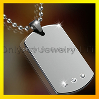 shiny polished high quality fashion tungsten carbide dog tags