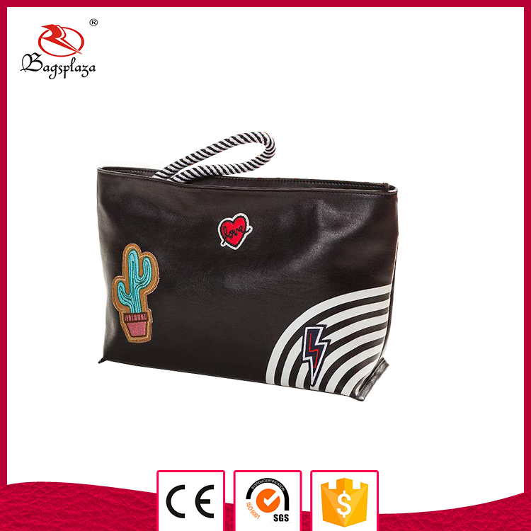 Online shopping cheap PVC PU available purse black cosmetic pouch