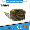 15 Degree Wire Collation Galvanized Pallet Coil Nails, carbon steel all size zinc coil nails