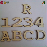 Delicate Wood Alphabet Letters,Numbers and Signs
