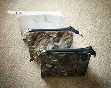 Fashion marble cosmetic bag travel plain makeup bag for women