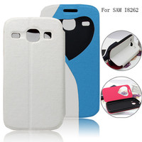 for samsung galaxy core i8262 case, wallet leather flip cover case for samsung galaxy core i8262