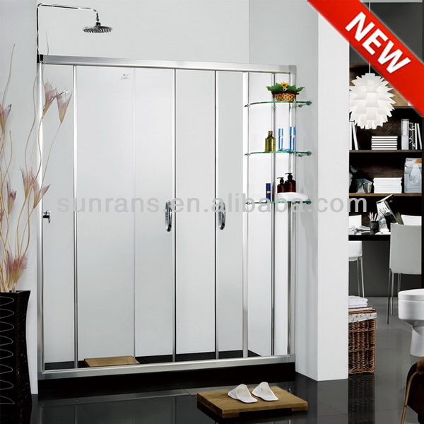 6MM tempered glass shower cabin bubble glass shower door