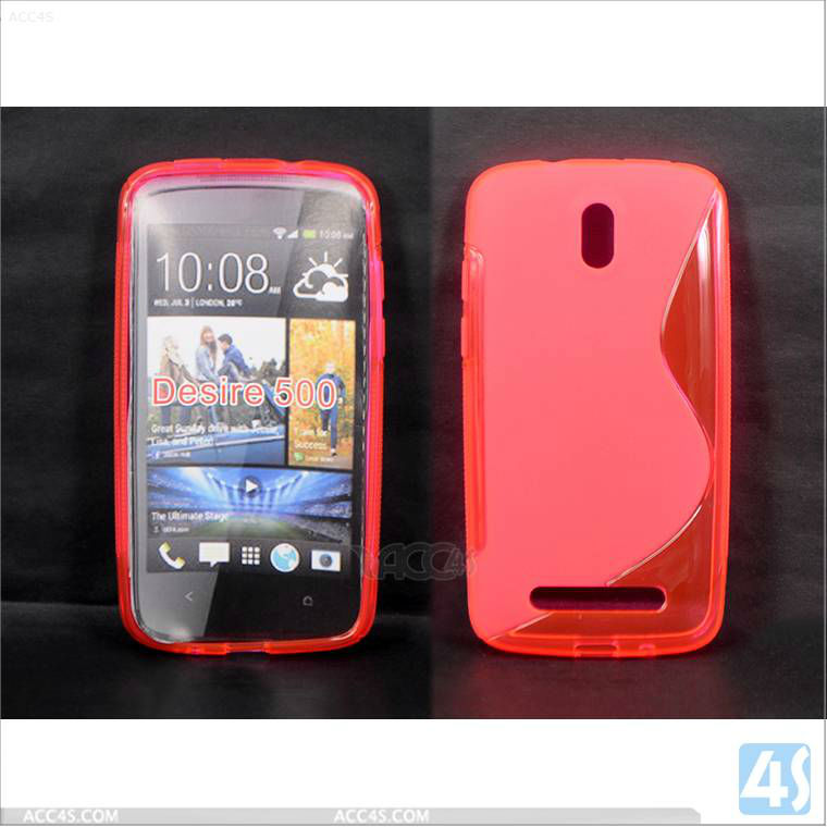 Mobile phone case, S Type TPU case for HTC Desire 500 P-HTCDesire500TPU001