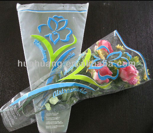 Transparent plastic packaging flower sleeve