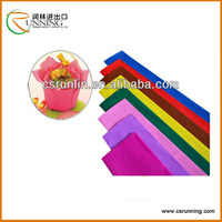 used for packing art craft crepe paper,double sided crepe paper