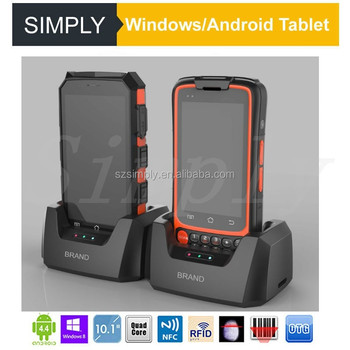 Simply W88 Portable wireless bluetooth 1D 2D waterproof handheld android barcode scanner with RFID NFC reader