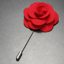 New arrival fashion felt flower men's lapel pin brooch metal crafts for men
