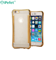 Hot selling Electroplating TPU Phone Case For iPhone 6 4.7 inch Rose golden mobile phone case for iPhone 6