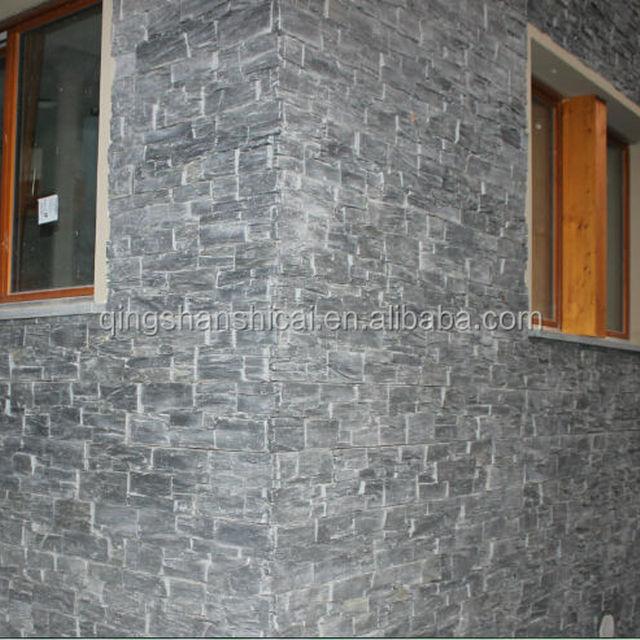 Black Mica Schist concrete ledgestone panels