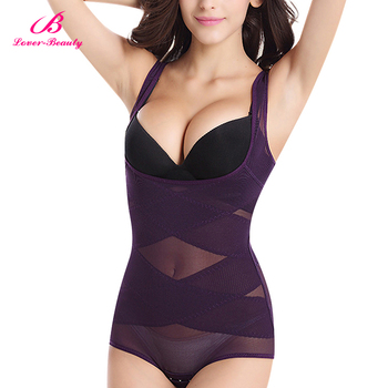 Flawless Purple New Plus Size M-4XL Full Body High Quality Shapewear Cheap Body Shaper Strapless