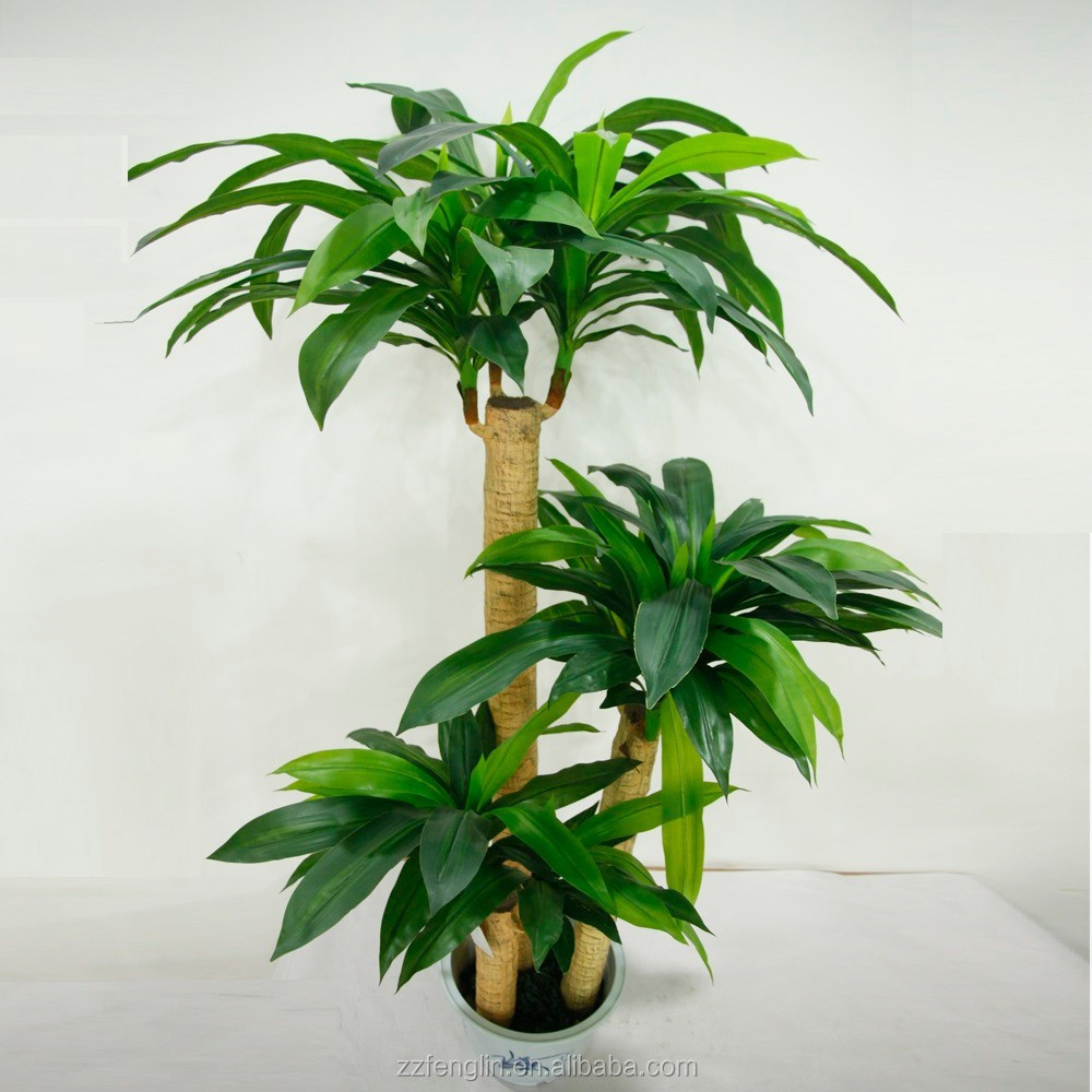 Hot sale cheap artificial dracaena plant fake artificial for Cheap trees
