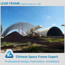 Prefabricated Galvanized Steel Space Truss Structure Coal Shed