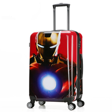 ABS PC printed luggage bags OEM Shanghai luggage trolley bag