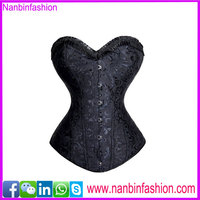 New fashion 2015 steel bone hot sex photo black corset