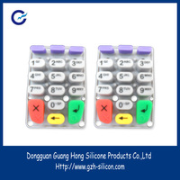 Customized silicone large keypad cell phones