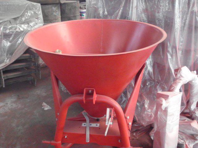 Tractor mounted fertilizer spreader salt spreader