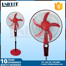 solar power 18 inch battery rechargeable table fan with led standing rechargeable fan factory